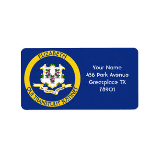 Connecticut The Constitution State Personal Flag Label