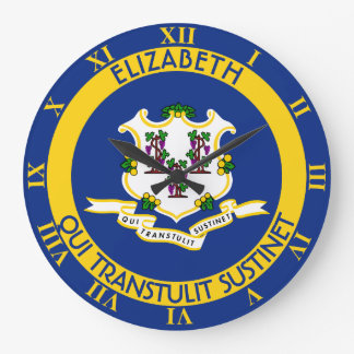 Connecticut The Constitution State Personal Flag Large Clock