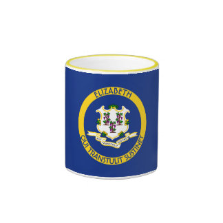 Connecticut The Constitution State Personal Flag Ringer Mug