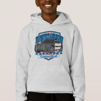 Connecticut To Protect and Serve Police Car Hoodie