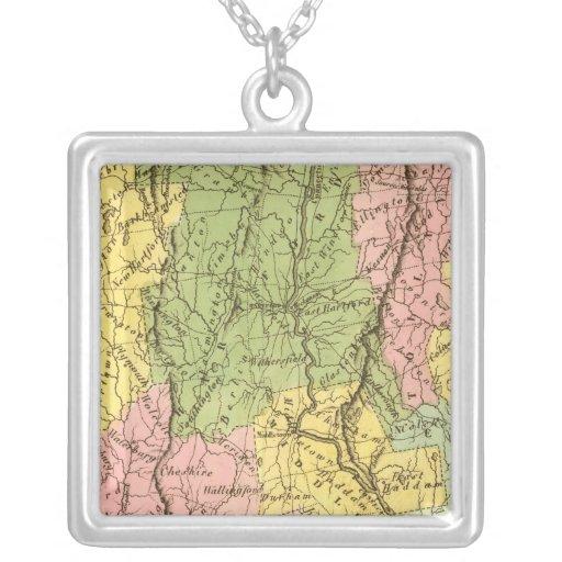 Connecticut US Square Pendant Necklace