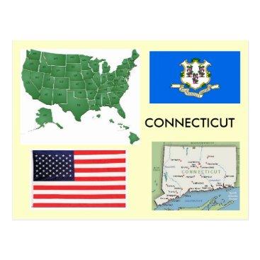 USA Themed Connecticut, USA Postcard