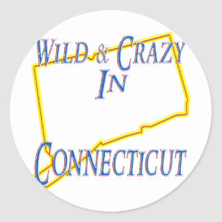 Connecticut - Wild and Crazy Classic Round Sticker