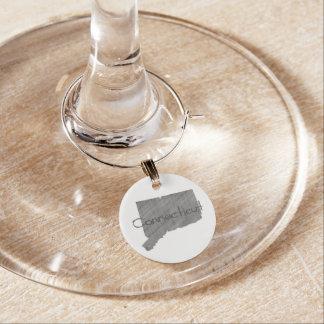 Connecticut Wine Glass Charm