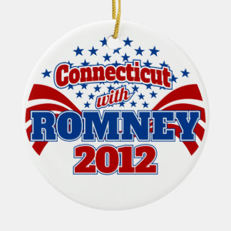 Connecticut with Romney 2012 Ceramic Ornament