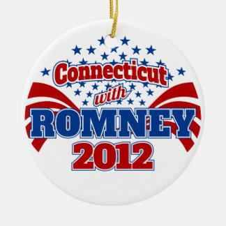Connecticut with Romney 2012 Ceramic Ornament