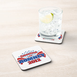 Connecticut with Romney 2012 Drink Coasters
