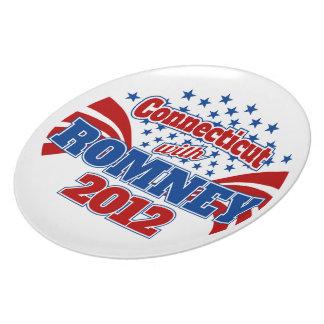 Connecticut with Romney 2012 Plato De Comida