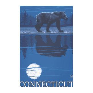 ConnecticutBear en el claro de luna Impresiones En Lona Estiradas