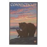 ConnecticutBear y Cub Cuadros De Madera