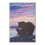 ConnecticutBear y Cub Lona Envuelta Para Galerías