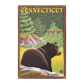 ConnecticutBlack Bear in Forest Canvas Print