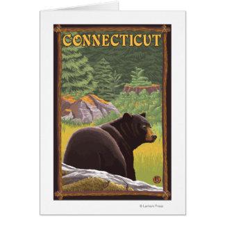 ConnecticutBlack Bear in Forest Card