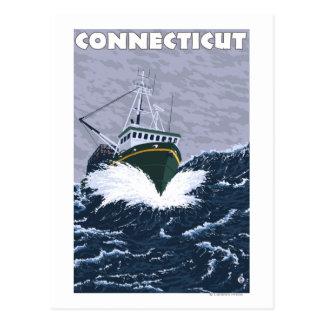 ConnecticutCrab Fishing Boat Scene Postcard