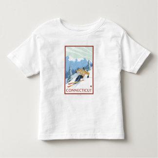 ConnecticutDownhill Skier Scene Toddler T-shirt