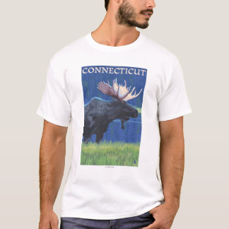 ConnecticutMoose in the Moonlight T-Shirt