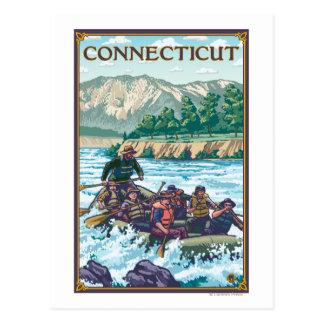 ConnecticutRiver que transporta escena en balsa Postales