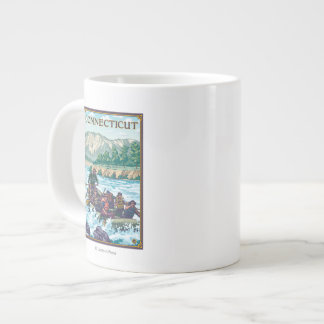 ConnecticutRiver Rafting Scene Large Coffee Mug