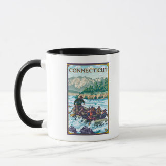 ConnecticutRiver Rafting Scene Mug