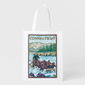 ConnecticutRiver Rafting Scene Reusable Grocery Bag