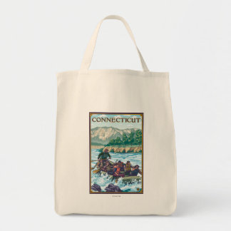 ConnecticutRiver Rafting Scene Tote Bag