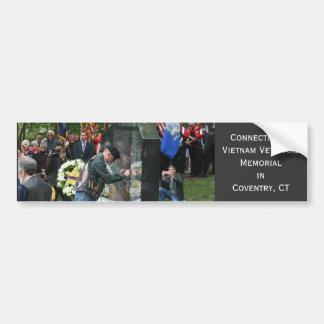 Connecticut's Vietnam Veterans Mem... - Customized Car Bumper Sticker