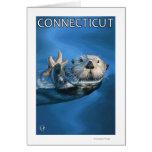 ConnecticutSea Otter Scene Greeting Card