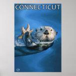 ConnecticutSea Otter Scene Poster