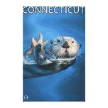ConnecticutSea Otter Scene Stretched Canvas Print