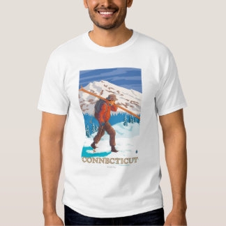 ConnecticutSkier Carrying Skis Shirt