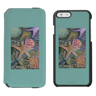 ConnecticutTidepool Scene iPhone 6/6s Wallet Case