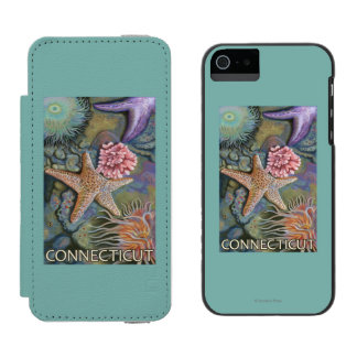 ConnecticutTidepool Scene Wallet Case For iPhone SE/5/5s
