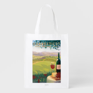 ConnecticutWine Country Scene Market Tote