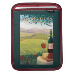 ConnecticutWine Country Scene Sleeves For iPads