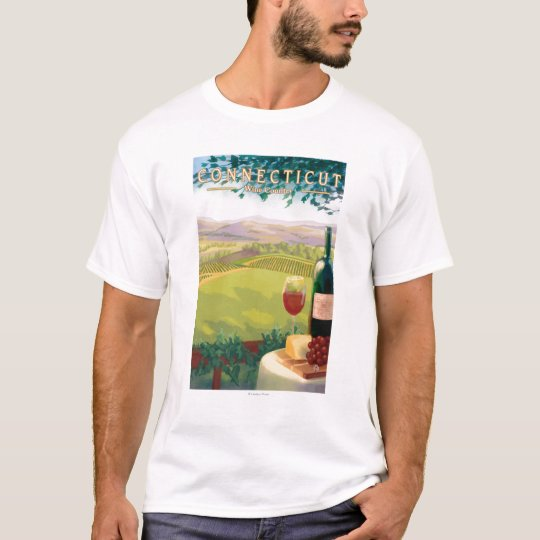 ConnecticutWine Country Scene T-Shirt