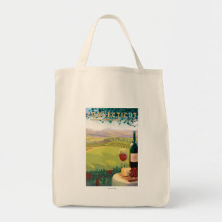 ConnecticutWine Country Scene Tote Bag
