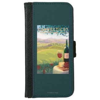 ConnecticutWine Country Scene Wallet Phone Case For iPhone 6/6s