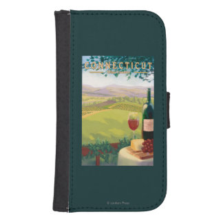 ConnecticutWine Country Scene Wallet Phone Case For Samsung Galaxy S4