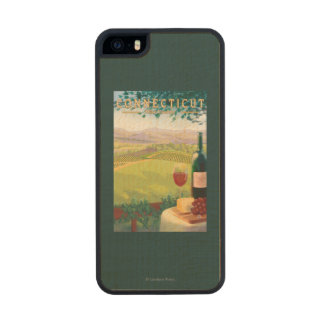 ConnecticutWine Country Scene Wood iPhone SE/5/5s Case