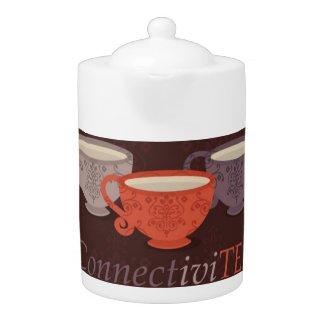 ConnectiviTEA Medium Tea Pot - Brown Design