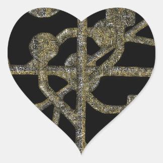 Connectivity Concept Pattern Heart Sticker