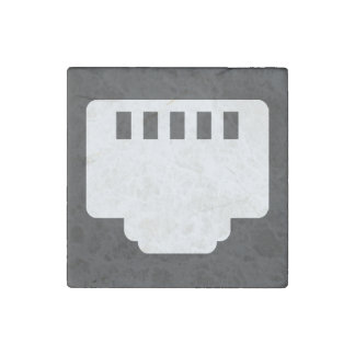 Connector Chips Pictogram Stone Magnet