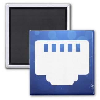 Connector Chips Pictogram 2 Inch Square Magnet
