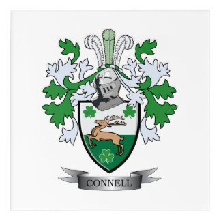 Connell Coat of Arms Acrylic Wall Art
