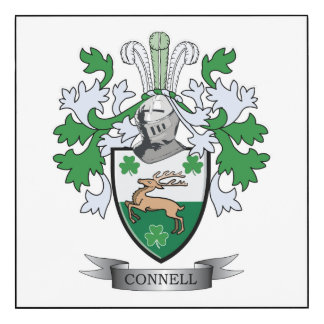 Connell Coat of Arms Wood Wall Art
