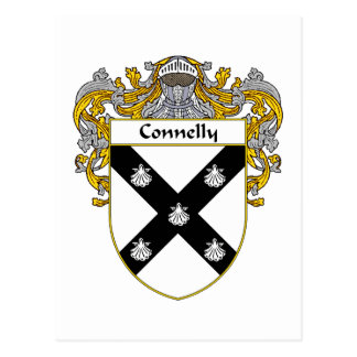 Connelly Coat of Arms (Mantled) Postcard