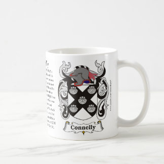 Connelly, Origin, Meaning and the Crest on a mug