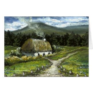 Connemara cottage greeting card