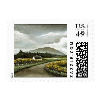 Connemara cottage postage stamps