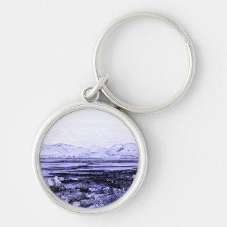 Connemara Silver-Colored Round Keychain